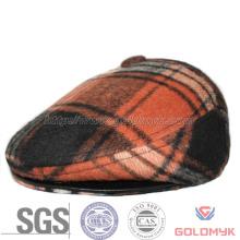 Men′s Winter Wool Plaid Cabbie Cap