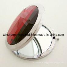 Miroir compact en métal strass (XS-M0102)