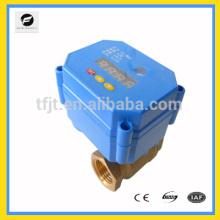 Temporizador de control de la válvula de bola motorizada eléctrica DC9 / 24V para el sistema de tuberías del sistema de riego Protección del medio ambiente