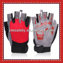 Anti shock pad design half finger cycling gloves