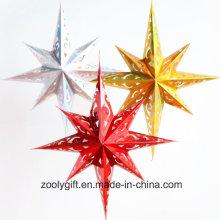 Láser de papel de tarjeta de papel colgante Estrella Decoración del Partido / Hang Paper Navidad Holiday Octagonal Star Lanterns