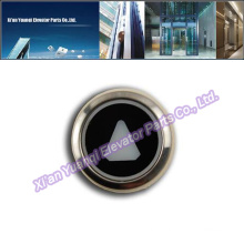 KONE Buttons Elevator Lift Spare Parts Stainless Steel Push Call Button Black Mark Original