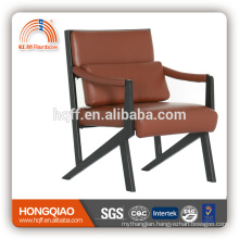 CV-B211BS luxury leather powder coating visitor chair high end furniture