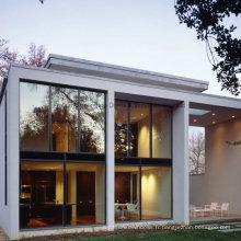 Fenêtre coulissante en aluminium faite sur commande de Feelingtop en gros avec le verre trempé de sécurité (FT-W80 / 126)