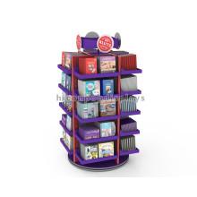 5-Layer 4-Way Literatura de pie libre Display Produce estantes Exhition Tienda Rack Book Shelf