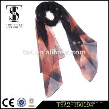 Colorido elegante 100 bufandas de seda pura impresión digital diseño personalizado bufanda de seda