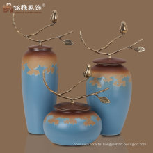 Ceramic art hand made vase decor pottery ceramic decoration