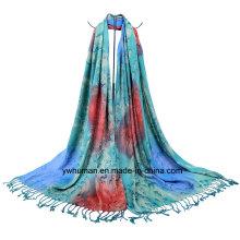 Art und Weise Dame Jacquard Raindrop Muster Schal
