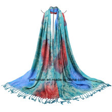 Fashion Lady Jacquard Raindrop Pattern Scarf