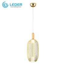LEDER Glass And Wooden Pendant Lamps