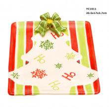 Keramische Weihnachtssüßigkeits-Teller auf Förderung