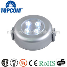 On The Wall 4 LED Forma Rodada Som Sensor Luz Interruptor