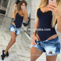 2017 European style women black rompers sleeveles laced summer jumpsuit for girls