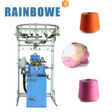 Mecánico manual rb 6ftp terry y calcetines lisos que teje la máquina para hacer punto calcetín de algodón