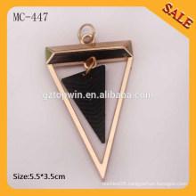 MC447 Hang tag bag accessories custom metal logo tag and pendants for garment
