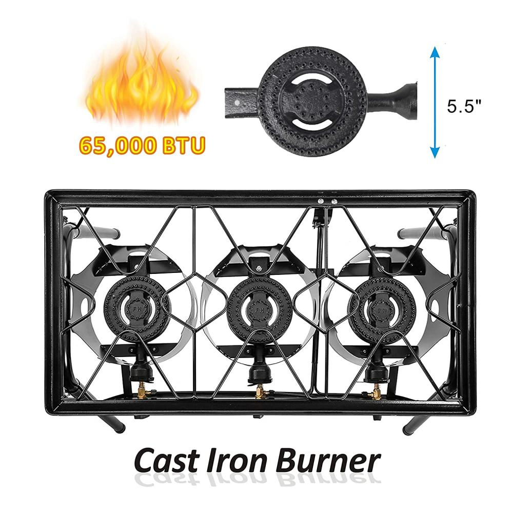 65,000 BTU Triple Burner Stove