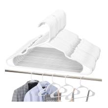 retail Amazon hot sale white plastic clothes hanger 50 pcs set custom package