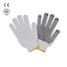 safety work pvc dotted cotton gloves