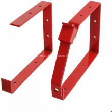 Suporte de armazenamento de escada de aço vermelho revestido a pó