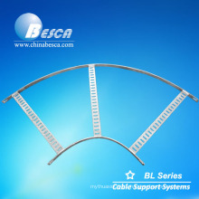Flat cable ladder bend cable tray elbow
