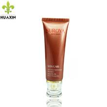 Tubo plástico material do cuidado da pele do pe 100ml que empacota com tampão acrílico