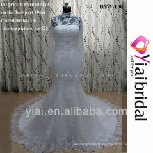 RSW106 Lace Mermaid Wedding Dress With High Neck