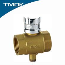 Латунь измерения температуры шаровой кран с дешевым ценой в TMOK Valvula