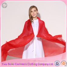 2017 ladies customized solid red color latest design plain stole shawls scarfs
