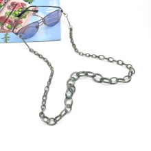 2020 2021 New trends unique non slip long hoop linked necklace for eye glasses acrylic acetate sunglasses chain holder