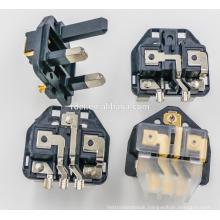 UK Plug Insert with plastic earth pins