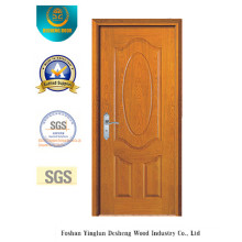 Simplified European Style MDF Door for Interior with Golden Color (xcl-013)