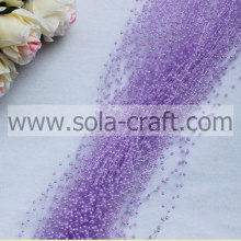 3mm rice-shaped purple color Artificial ABS pearl beaded chains for décor of lobby, room