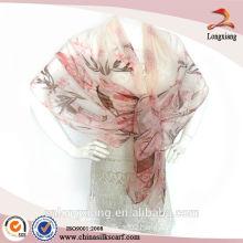 Spring digital print chiffon scarf