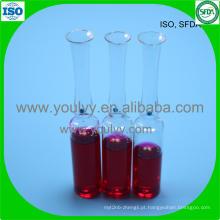 Ampola de vidro tipo I USP de 2 ml
