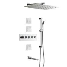 Mezclador termostático de ducha de lluvia de cuatro funciones HIDEEP Bath