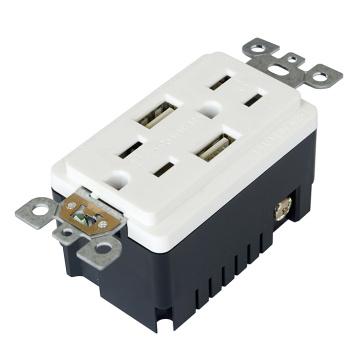 BAS15-2USB Recipiente listado UL y CUL con USB