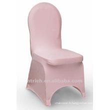 couverture de chaise de banquet, couverture de chaise de lycra, CTS805 rose, adapté pour toutes les chaises