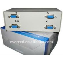 VGA Data Switch , 3 Port VGA Manual Data Switch Box