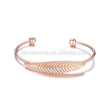 оптовая розовое золото счастливый браслет сплав браслет