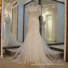 LS47705 Real xale cristal sereia malaysia árabe baile pesado com contas mais tamanho branco vestidos de festa
