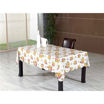 Cheap Popular White PVC Opaque Printed Tablecloth