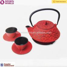 Top-Qualität chinesischen Gusseisen dicken Teekanne Set mit Cups