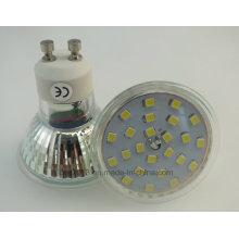 Neues 450lm Glasgehäuse mit Abdeckung 5W GU10 2835 SMD LED Birne