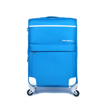 fashion style soft rolling waterproof fabric luggage trolley