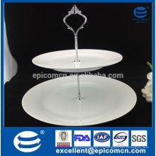 Столовая посуда 2 слоя керамическая подставка для пирога, держатель для печенья из фарфора