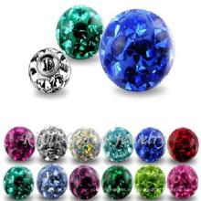 Tornillo de repuesto de la joyería del cuerpo Bolas de Ferm de la piedra preciosa para el anillo de vientre o Labret