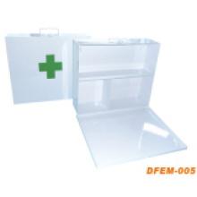 Práctica caja de primeros auxilios médica de metal