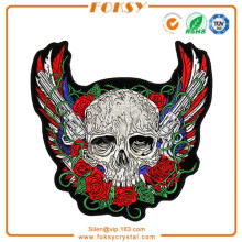 Skull Pistols and Roses Back Patch