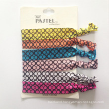 Pack of 6 Knotted Ponytail Holder Foe Hair Tie (HEAD-323)