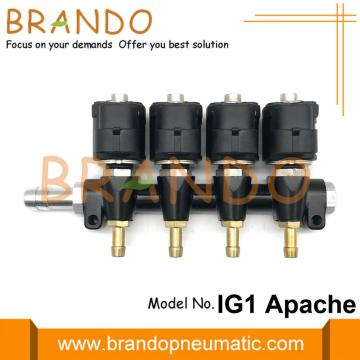 Carril de inyector 4Cyl 3Ohms IG1 Apache LPG CNG